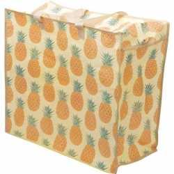 Opbergtas/dekentas ananas print 55 bij 48