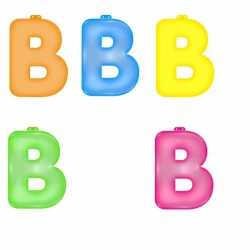 Opblaas letter B
