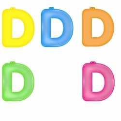 Opblaas letter D
