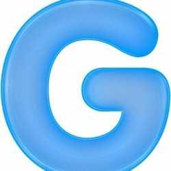 Opblaas letter G blauw