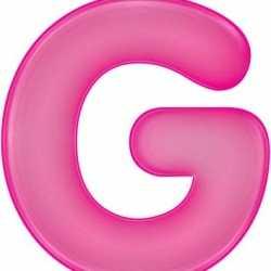 Opblaas letter G roze