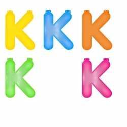 Opblaas letter K