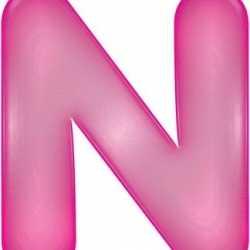 Opblaas letter N roze