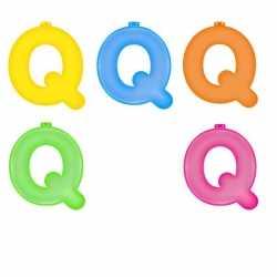 Opblaas letter Q