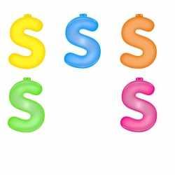 Opblaas letter S