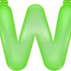 Opblaas letter W groen