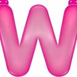 Opblaas letter W roze