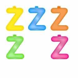 Opblaas letter Z
