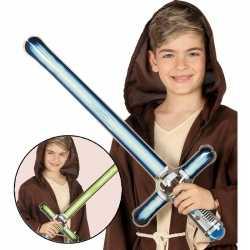 Opblaasbaar laser zwaard groen 69