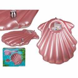 Opblaasbaar luchtbed roze schelp 163 bij 151