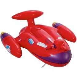 Opblaasbaar rood ruimteschip waterpistool 109x89cm