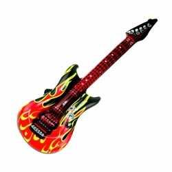 Opblaasbare gitaar vlammen 100