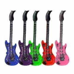 Opblaasbare groene elektrische gitaar