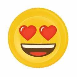 Opblaasbare hartjesogen emoticon luchtbed 130 bij 110
