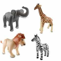 Opblaasbare wilde dierenset 4 stuks