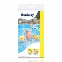 Opblaasbare zwembandjes schildpad geel kinderen