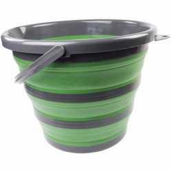 Opvouwbare emmer groen/zwart 10 liter