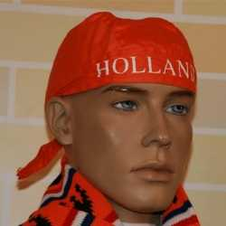 Oranje bandana Holland opdruk