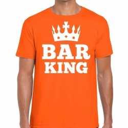 Oranje bar king kroontje t shirt heren