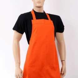Oranje barbecue schort
