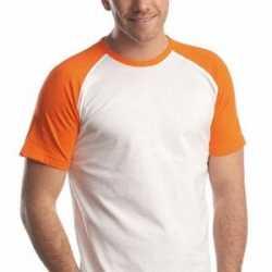 Oranje baseball t-shirt korte mouw