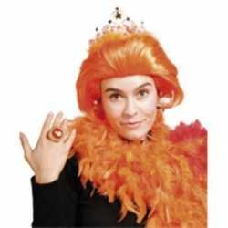 Oranje beatrix pruik dames