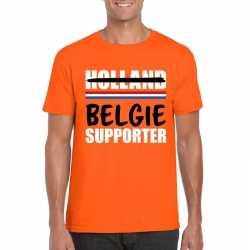Oranje belgie shirt teleurgestelde holland supporters heren