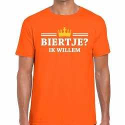 Oranje biertje ik willem t shirt heren