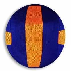Oranje/blauw gestreepte mesh speelgoed bal kinderen 23