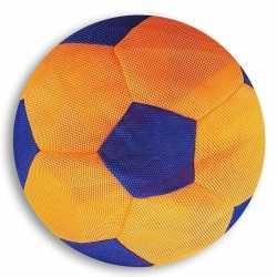 Oranje/blauwe zachte mesh speelgoed bal kinderen 23