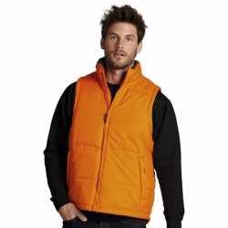Oranje bodywarmer heren