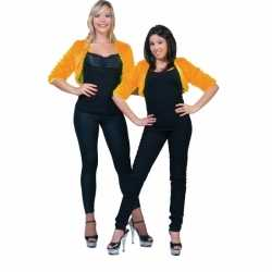 Oranje bolero bontjasje dames