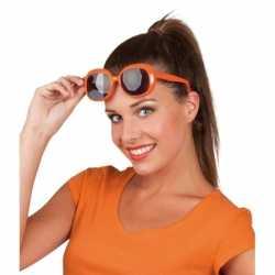Oranje bril vierkante glazen