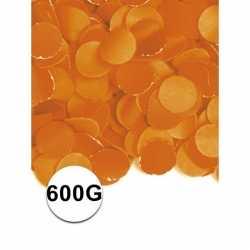 Oranje confetti 600 gram