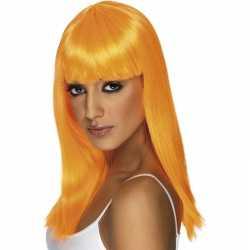 Oranje damespruik stijl haar