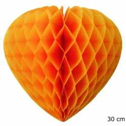 Oranje decoratie hart 30