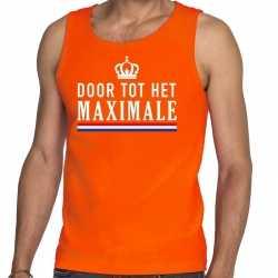 Oranje door tot het maximale tanktop / mouwloos shirt heren