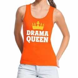 Oranje drama queen tanktop / mouwloos shirt dames