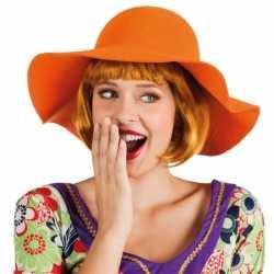 Oranje flaphoed dames