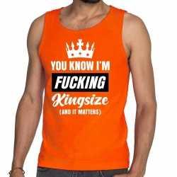 Oranje fucking kingsize tanktop / mouwloos shirt