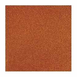 Oranje glitter papier vel
