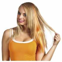 Oranje hair extensions clip in dames