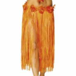 Oranje Hawaii rokje bloemen