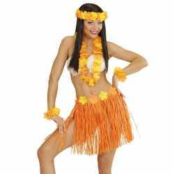 Oranje hawaii verkleedset dames