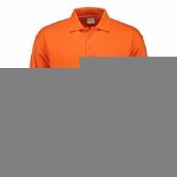 Oranje heren sweater polo kraag