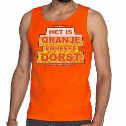 Oranje het is oranje heeft dorst tanktop/mouwloos shirt heren