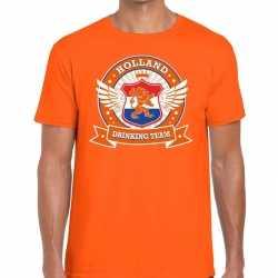 Oranje holland drinking team t shirt heren