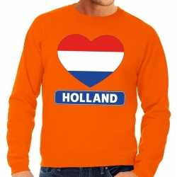 Oranje holland hart vlag sweater heren