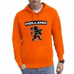 Oranje holland hoodie zwarte leeuw heren