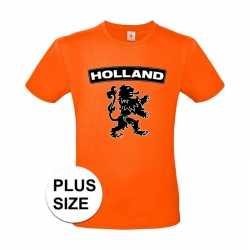 Oranje holland shirt zwarte leeuw grote maten shirt heren